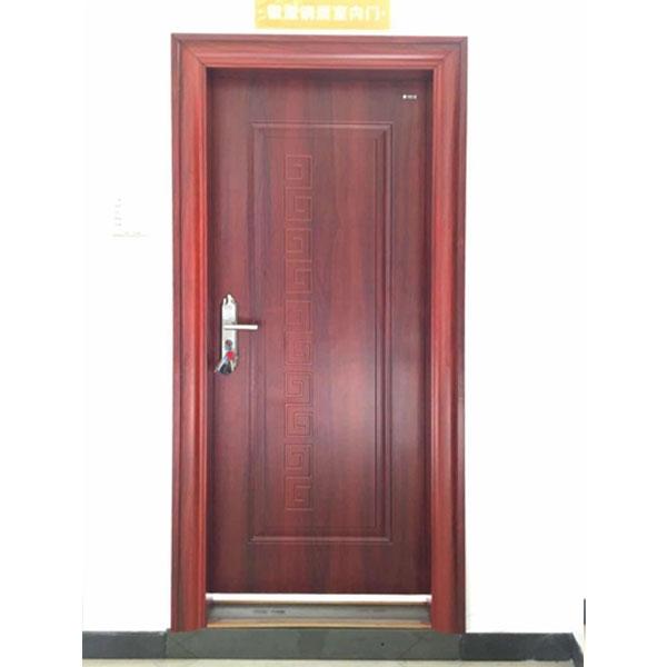 钢质入户门胡桃红