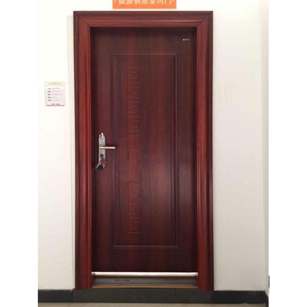 胡桃红钢制室内门