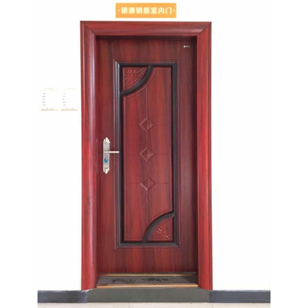 胡桃红钢质室内门